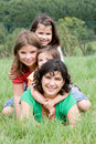 Mother with daughters Stock Images