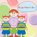 Mother day greeting card Stock Images