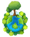 Mother earth illustration of the on a white background Stock Images