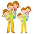 Mother and Father husband holding the children. Home and Family Royalty Free Stock Images