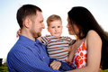 Mother, father and son Royalty Free Stock Images