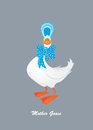 Mother goose imaginary cartoon character Royalty Free Stock Photography