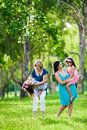 Mother, grandmother and daughters having laugh Stock Photography
