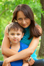 Mother and her boy Stock Photography