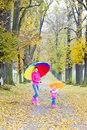 Mother and her daughter in autumn Stock Photography