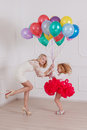 Mother and her daughter have fun Royalty Free Stock Photo