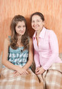 Mother and her teen daughter Royalty Free Stock Photos