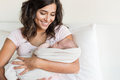 Mother holding newborn baby Royalty Free Stock Photo