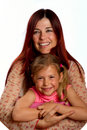 Mother hugging daughter Royalty Free Stock Photos