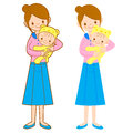The mother husband holding the baby. Home and Family Character D Stock Photography