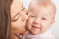 Mother  kissing baby girl Royalty Free Stock Photo