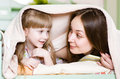 Mother and little girl having time together cute Stock Photography