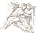 Mother Mary dead Jesus Christ Stock Photography