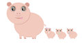 Mother pig and her little piglets Royalty Free Stock Images