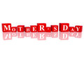 Mother's day in 3d cubes Royalty Free Stock Photo