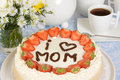 Mother's day cake Royalty Free Stock Photos