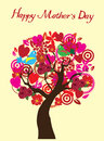 Mother s day card illustration of a tree for Royalty Free Stock Photo