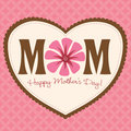 Mother's Day Card/Poster Royalty Free Stock Image