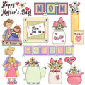 Mother's Day Clipart 2 Royalty Free Stock Photography