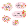 Mother s day clipart with flowers Royalty Free Stock Photos