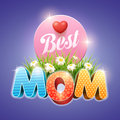 Mother s day design template elements are layered separately in file Royalty Free Stock Images