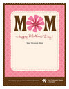 Mother's Day Flyer/Poster Template Royalty Free Stock Image