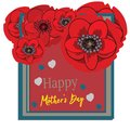 Mother s day greeting card with blossom flowers