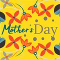Mother s day greeting card with flowers background, hand drawn card, elegant vector, poster, banner, happy familly
