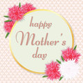 Mother`s Day greeting card. Vector illustration.