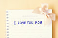 Mother`s day, I love you mom handwriting