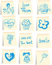 Mother`s day icon set Stock Image