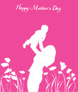 Mother s day illustration of a card Stock Photo