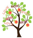 Mother s day illustration of a tree for Stock Photo