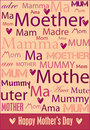 Mother's Day poster Royalty Free Stock Photos