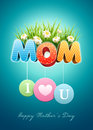 Mother s day poster design template elements are layered separately in vector file Stock Photos