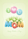 Mother s day poster design template elements are layered separately in vector file Royalty Free Stock Images