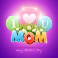 Mother s day poster design template elements are layered separately in vector file Stock Photography