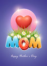 Mother s day poster design template elements are layered separately in vector file Royalty Free Stock Photos