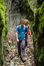Mother and son on a canyon Royalty Free Stock Photo
