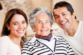 Mother, son and daughter-in-law Stock Photo