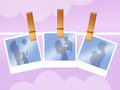 Mother and son illustration of photographs with mom Royalty Free Stock Image