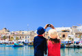 Mother and son making selfie while travel in Malta