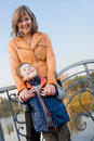 Mother and son outdoor portrait Stock Images