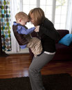 Mother and son play Royalty Free Stock Photos