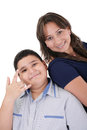 Mother and son portrait Royalty Free Stock Photo