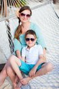 Mother and son on vacation Royalty Free Stock Image