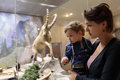Mother with son at zoological museum her russia Stock Image