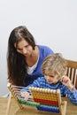 Mother teaches son