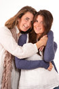 Mother and teenage daughter emotion Royalty Free Stock Image