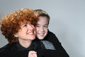 Mother and teenager son attractive her Royalty Free Stock Photography
